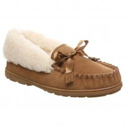 Bearpaw Women's Indio Spillout Fur Moc Slippers - Brown, 10