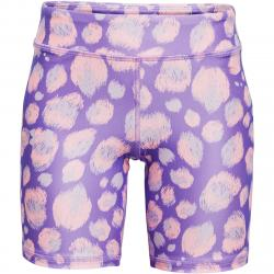 Under Armour Girls' Heatgear Armour Aop Bike Shorts - Purple, XL