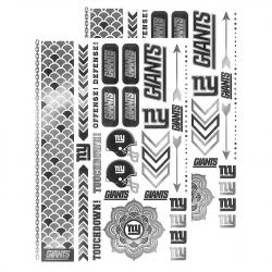 New York Giants Metallic Body Jewelry Temporary Foil Tattoos, 2 Pack