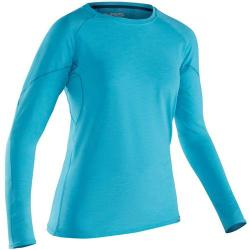 NRS Women's H2Core Silkweight Long-Sleeve Shirt, Blue Atoll