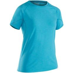 NRS Women's H2Core Silkweight Short-Sleeve Shirt, Blue Atoll