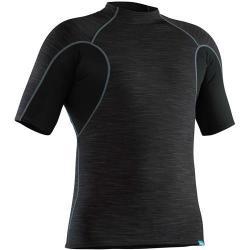 NRS Men's HydroSkin 0.5 Short-Sleeve Shirt, Black