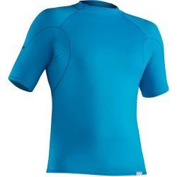 NRS Men's H2Core Rash Guard Short-Sleeve Shirt, Marine Blue
