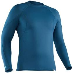 NRS Men's H2Core Rash Guard Long-Sleeve Shirt, Moroccan Blue