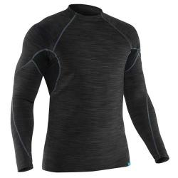 NRS Men's HydroSkin 0.5 Long-Sleeve Shirt, Black
