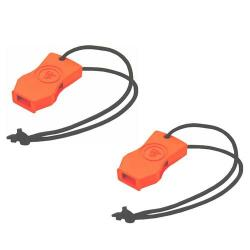 Ultimate Survival Jet Scream Micro Floating Whistle - 2 Pack