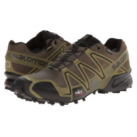 Salomon Mens Speedcross 3 GTX Dark Khaki / Black / Iguana Green - 10.5