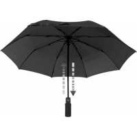 EuroSCHIRM Light Trek Auto Umbrella w/ Flashlight Black