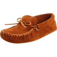 Minnetonka Men's Leather Laced Softsole Brown