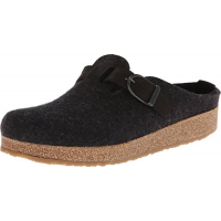 Haflinger Wmn's GZB Grizzly Clog With Buckle Charcoal