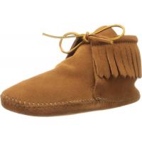 Minnetonka Men's Classic Fringe Boot Brown