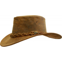 Kakadu Traders 4H57 Nullabor Leather Hat Tobacco