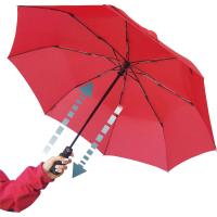 EuroSCHIRM Light Trek Auto Umbrella w/ Flashlight Red