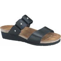 Naot Ashley Slide Sandals Black Madras