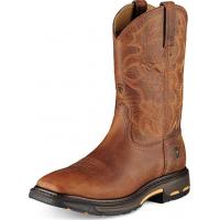 Ariat Men's Workhog Wide Square Toe Steel Toe Work Boot Toast