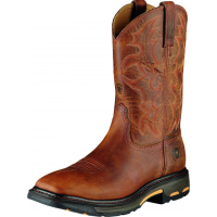 Ariat Men's Workhog Wide Square Toe Work Boot Toast