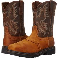 Ariat Men's Sierra Wide Square Toe Steel Toe Work Boot Aged Bark