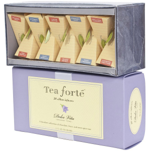 Tea Forte Dolce Vita Collection - Ribbon Box, 20 Infusers - 20 Infuser Ribbon Box