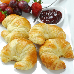 Image of 100% Butter French Curved Croissants - 3.5 oz, Unbaked - 20 croissants
