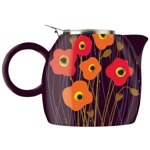Tea Forte PUGG Ceramic Teapot - Poppy Fields - 24 oz teapot