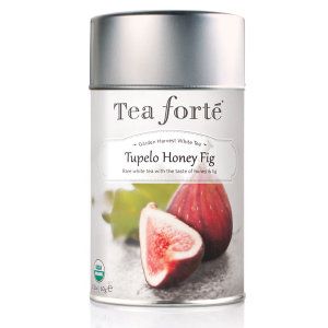 Tea Forte Tupelo Honey Fig White Tea - Loose Leaf Tea - 50 Servings Canister