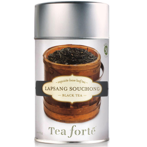 Tea Forte Lapsang Souchong Black Tea - Loose Leaf Tea Canister - 50 Servings Canister