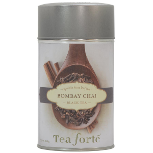 Tea Forte Bombay Chai Black Tea - Loose Leaf Tea Canister - 50 Servings Canister