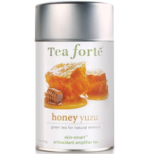 Tea Forte Skin Smart Honey Yuzu Green Tea - Loose Leaf Tea Canister - 50 Servings Canister