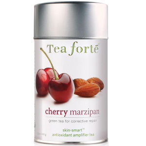 Tea Forte Skin Smart Cherry Marzipan Green Tea - Loose Leaf Tea Canister - 50 Servings Canister