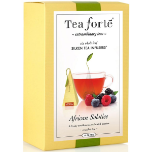 Tea Forte African Solstice Herbal Tea - Pyramid Box, 6 Infusers - 6 Infusers Pyramid Box