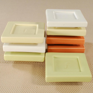 Tea Forte Tea Trays - set of 2 celery green trays