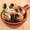 Ceramic Escargot Plate with Handle - 1 plate