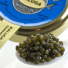 Kaluga Fusion Sturgeon Caviar, Amber - Malossol, Farm Raised - 0.5 oz, glass jar