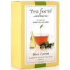 Tea Forte Black Currant Black Tea - Pyramid Box, 6 Infusers - 6 Infusers Pyramid Box