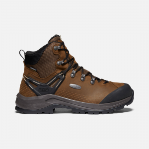Day hike, thru hike, light hike, or your most epic hike? We made a men\\'s hiking boot that keeps every trail possibility open with a just-right mix of technical backpacking performance and all-around trail comfort. | Keen Men\\'s Waterproof Wild Sky Boot Size 11, In Dark Earth/Black.