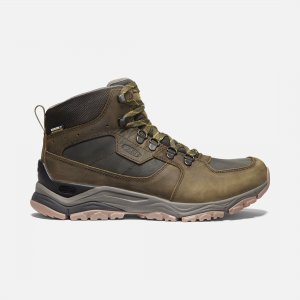 All the makings of a great leather travel boot with a retro vibe and eye-catching details. Our men\\'s Innate waterproof boot looks and feels just as comfortable touring the town as escaping to the trail. | Keen Men\\'s Waterproof Innate Leather Boot Size 7.5, In Chestnut/Fired Brick.