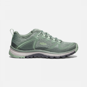 Stay on your game-and on the trail-no matter the mercury levels. Featuring a ventilated mesh upper, this hiking shoe doubles down on versatility, comfort, and performance designed specifically for women. | Keen Women\\'s Hiking Shoes Terradora Vent, 5.5, Laurel Wreath/Lily Pad.