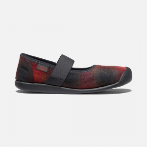 This cozy buffalo plaid takes our casual Mary Jane into fall, winter, and beyond. Featuring a natural wool-blend upper, comfy, secure fit, and low-profile rubber and cork outsole. | Keen Women\\'s Sienna Plaid Mary Jane Shoes Size 9.5, In Grey Multi/Pewter.