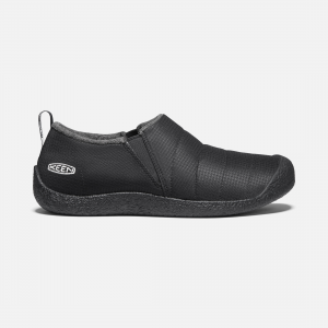 Quilted nylon is lined with plush microfleece for warmth without bulk. A memory foam footbed forms to your foot while cushioning every step, and the rubber outsole stands up to outdoor wear. | Keen Men\\'s Howser II Shoes Size 9, In Olive Drab/Caramel Cafe.