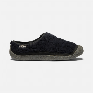 Step right into cozy and take it wherever you roam. With an outdoor-friendly upper, toasty fleece lining, and sturdy outsole, this slide blurs the line between house shoe and outdoor slipper. | Keen Women\\'s Howser Slide Shoes Size 7, In Black/Magnet.