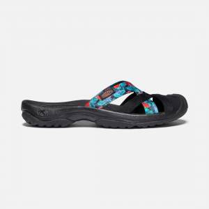 You don\\'t have to be on the beach to get the most of this comfy, closed-toe mule-but it helps. The cushy footbed offers all-day comfort, while soft, quick-dry webbing ensures dry feet in time for happy hour. | Keen Women\\'s Kira Mule Sandals Size 11, In Black Multi.
