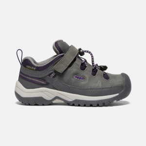 Try this waterproof version of our KEEN Kids Targhee hiking shoes, created to take active boys and girls further down the trail in all kinds of weather. Built on the same design as our adult Targhees. | Keen Little Kids Waterproof\\' Targhee Waterproof Shoe Size 8, In Blue Nights/Red Carpet.