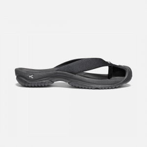 This sporty style features patented toe protection and a lightweight rubber outsole. The EVA midsole absorbs shock as you stride toward the beach chair that\\'s calling your name. | Keen Men\\'s Waimea H2 Sandals Size 7, In Triple Black/Black.
