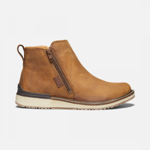 The ankle boot that\\'s tall on conscious construction. Hand-finished with environmentally preferred leather, our light and cushy Luftcell midsole, and a side zip, this versatile women\\'s bootie is a standout for getting outside. This product is uniquely crafted and may vary from pictured. | Keen Women\\'s Bailey Ankle Zip Boots Size 6.5, In Cognac.