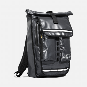 Laptop in the front, gear in the back. This water-resistant backpack has a pocket for every single thing, and the large rolltop interior fits lunch, a change of clothes, and your KEEN hikers so you can hit the trail after work. | Keen Catchhaul Commuter Bag, In Grey.