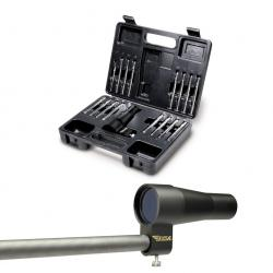 BSA Boresighter with 15 Arbors and Hard Case