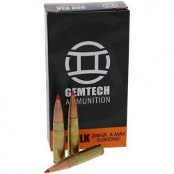Gemtech Rifle Ammunition .300 AAC Blackout 208 gr 1020 fps Polymer Tip 20/ct