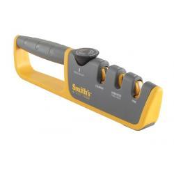 Smith's Adjustable Angle Pull-Thru Knife Sharpener for Straight Edge Knives - Coarse or Fine