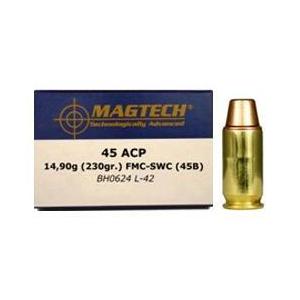 MagTech Handgun Ammunition .45 ACP 230 gr SWC 780 fps 50/box