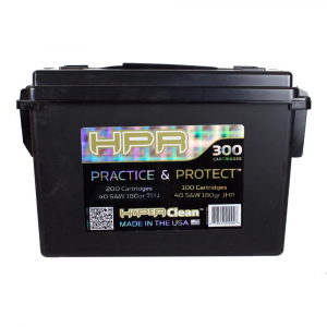 HPR Practice and Protection Handgun Ammunition .40 S&W 180 gr TMJ/JHP 200/100ct
